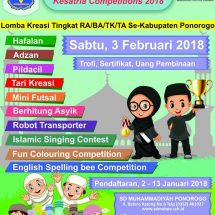 Lomba TK/RA/BA/TA Se Kabupaten Ponorogo